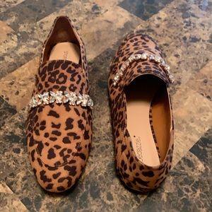 Shoe Dazzle Leopard Loafers